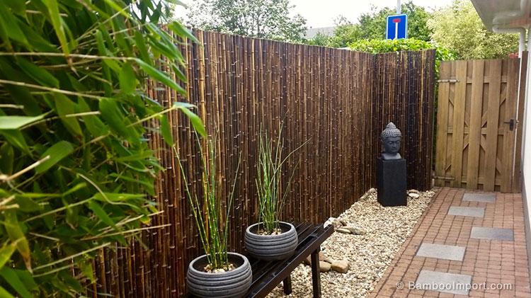 Recinzione in bambù di design n.17