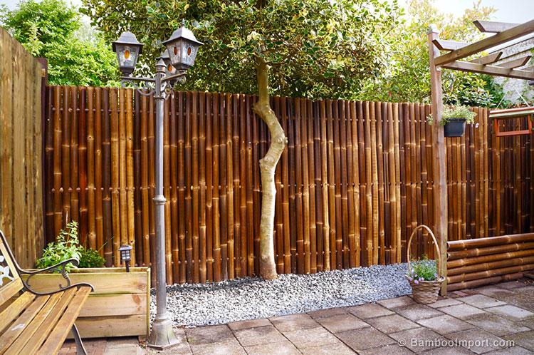 Recinzione in bambù di design n.18