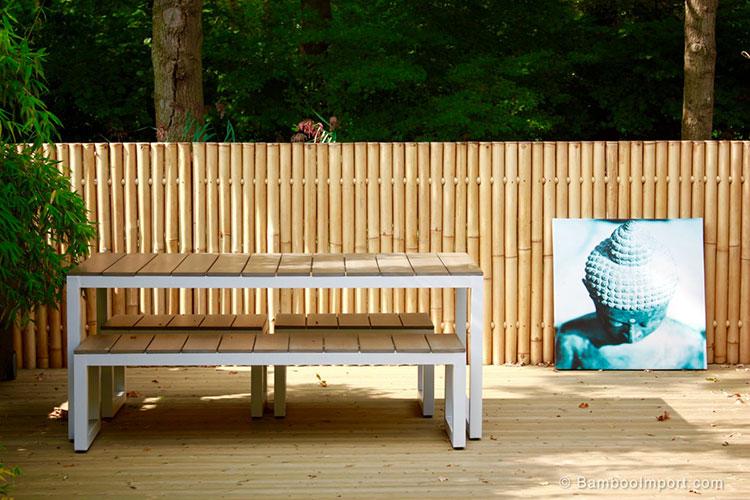 Recinzione in bambù di design n.19
