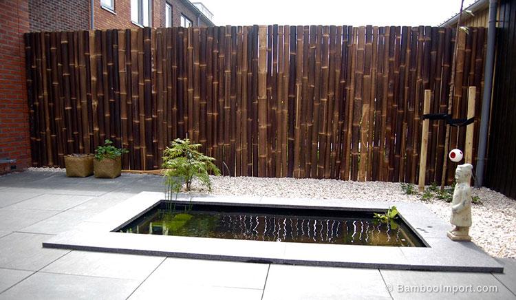 Recinzione in bambù di design n.20