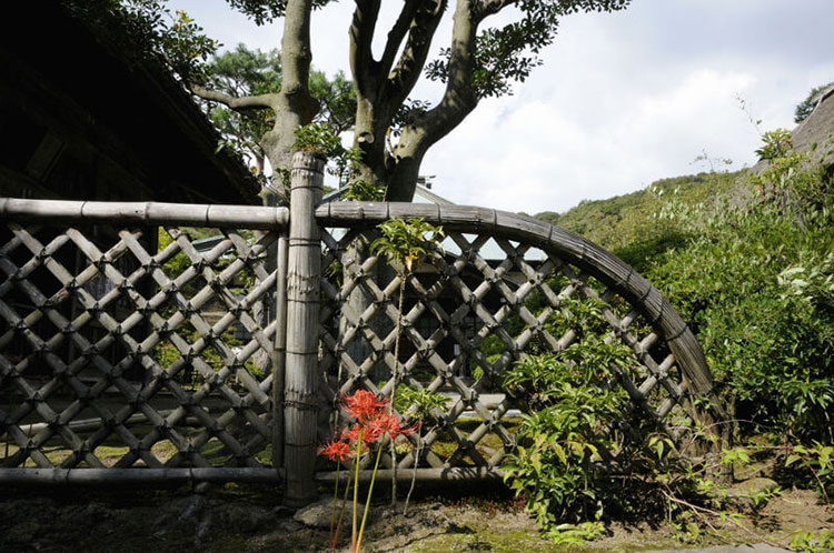 Recinzione in bambù di design n.22