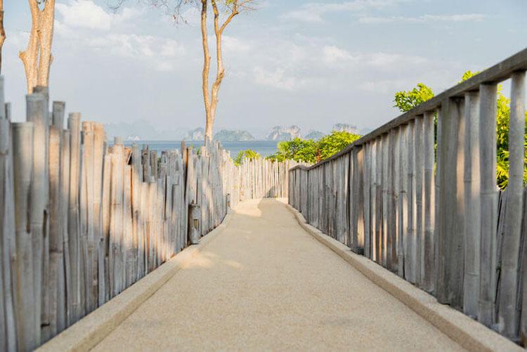 Recinzione in bambù di design n.23