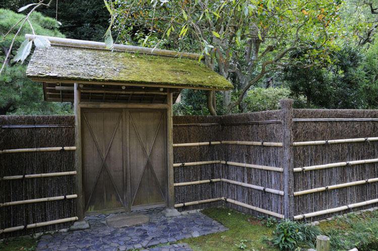 Recinzione in bambù di design n.24