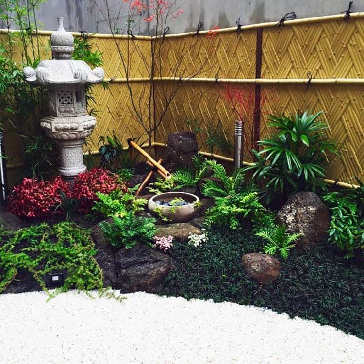Idee per recinzioni in bambù intrecciato n.01