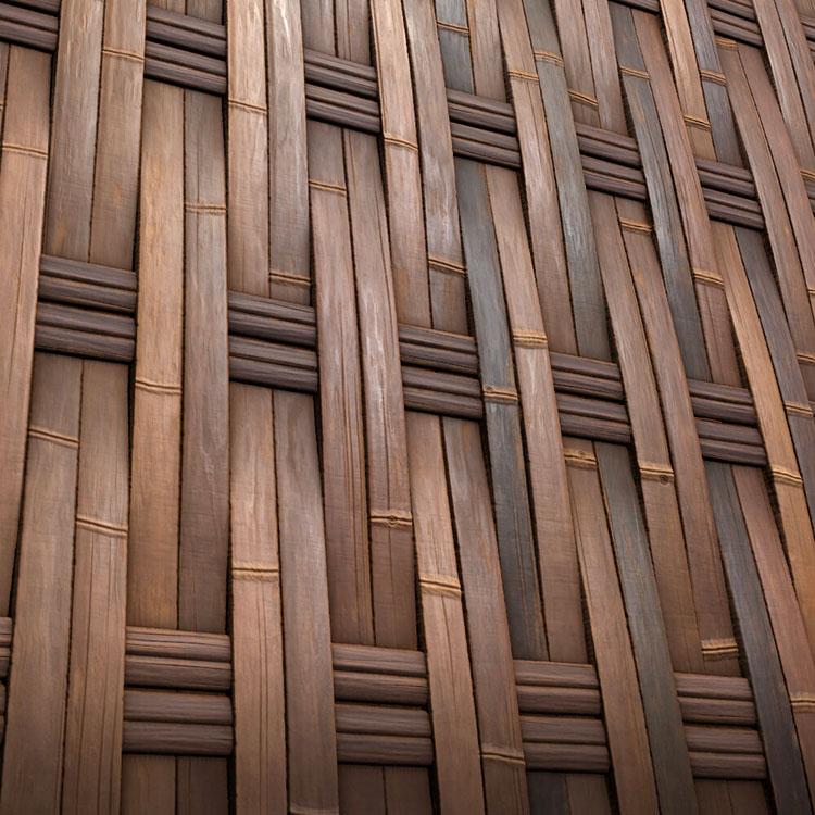 Idee per recinzioni in bambù intrecciato n.03
