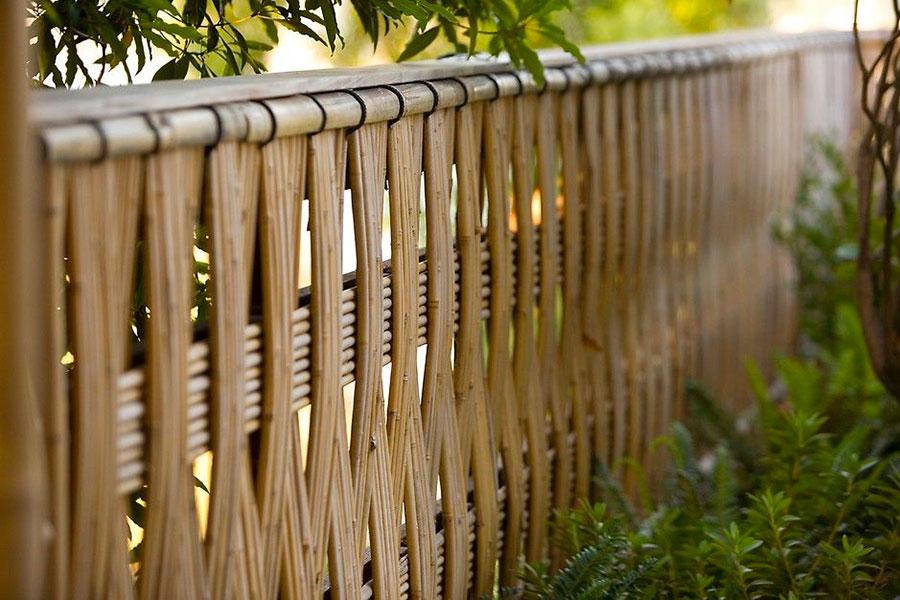 Idee per recinzioni in bambù intrecciato n.05