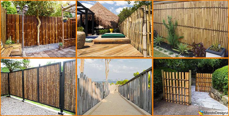 Recinzioni in bamb 25 idee di design ecosostenibile - Recinzioni per giardini ...