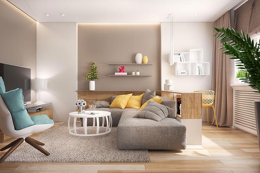 Arredare con il giallo 25 idee di design per living for Immagini living moderni