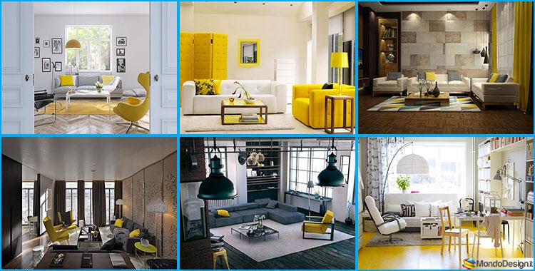 Ambienti Living Moderni.Arredare Con Il Giallo 25 Idee Di Design Per Living Moderni