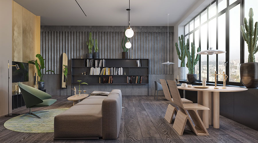 Idee per arredare e decorare le pareti con il grigio tortora n.01