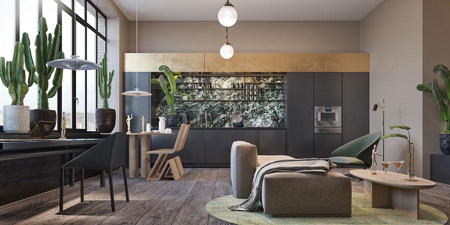 Idee per arredare e decorare le pareti con il grigio tortora n.02
