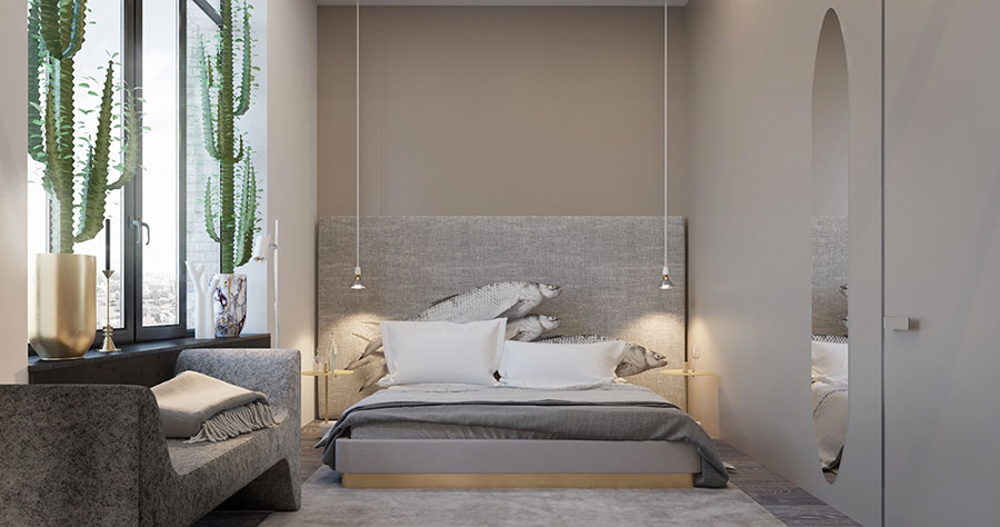 Idee per arredare e decorare le pareti con il grigio tortora n.04