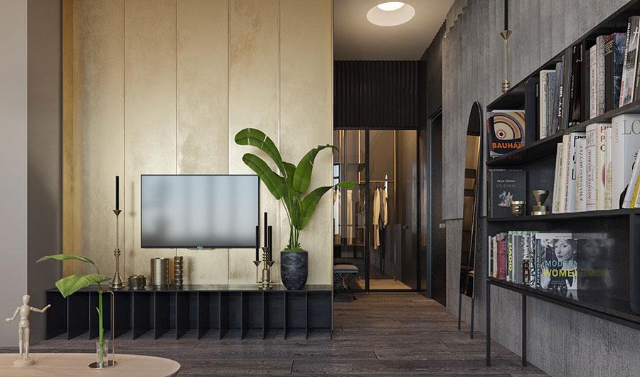 Idee per arredare e decorare le pareti con il grigio tortora n.05
