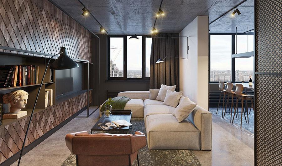 Idee per arredare e decorare le pareti con il grigio tortora n.10