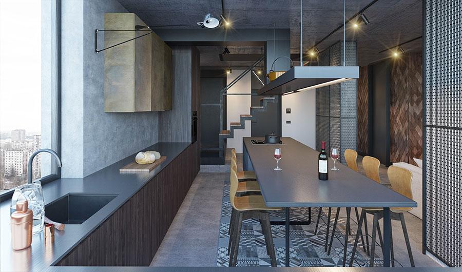 Idee per arredare e decorare le pareti con il grigio tortora n.17