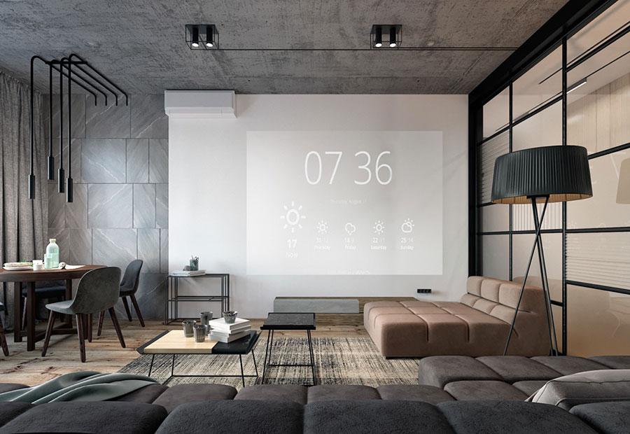 Idee per arredare e decorare le pareti con il grigio tortora n.19