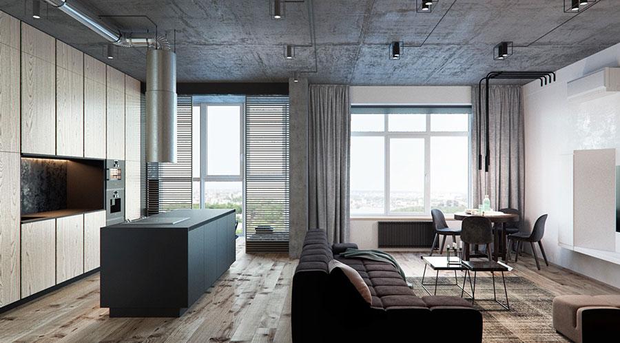 Idee per arredare e decorare le pareti con il grigio tortora n.20