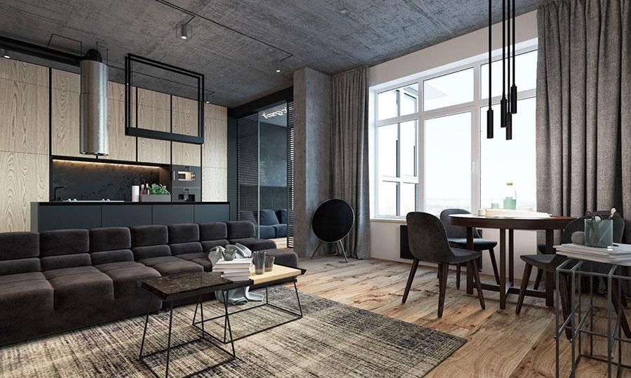 Idee per arredare e decorare le pareti con il grigio tortora n.21