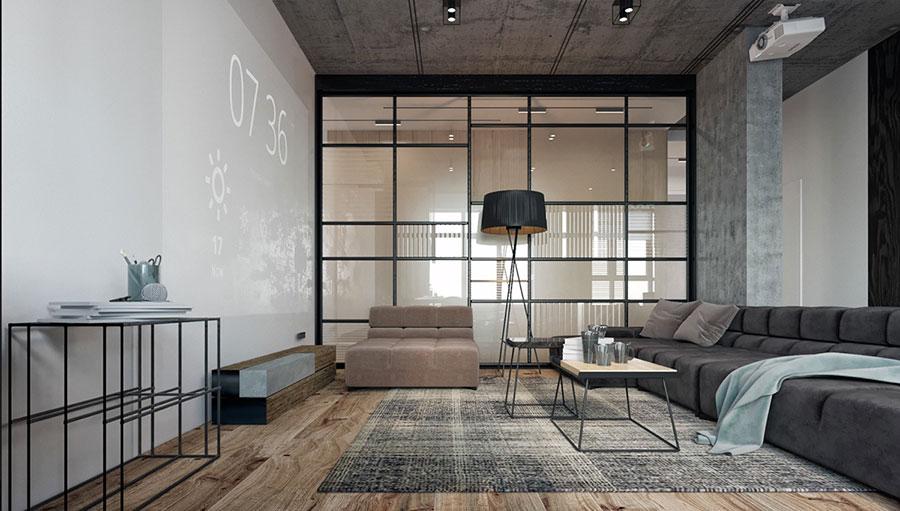 Idee per arredare e decorare le pareti con il grigio tortora n.22