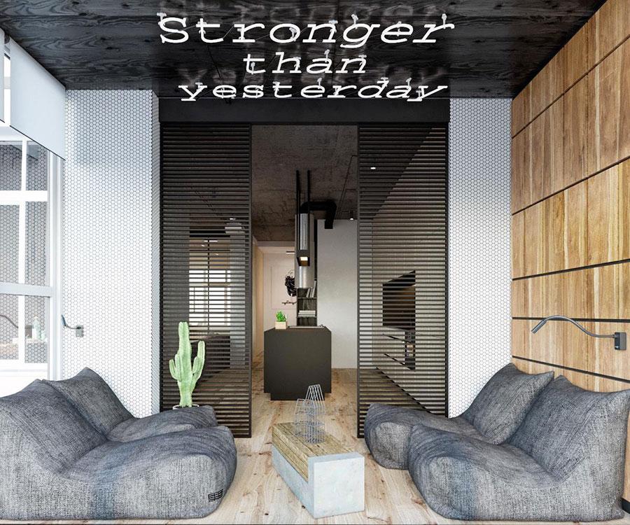 Idee per arredare e decorare le pareti con il grigio tortora n.23