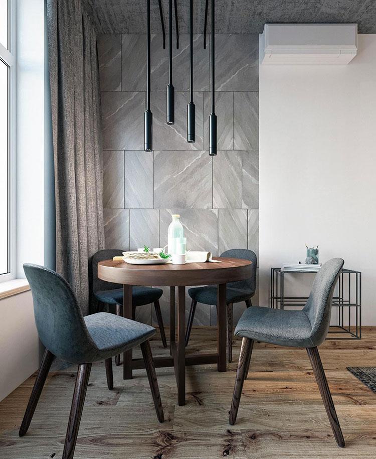 Idee per arredare e decorare le pareti con il grigio tortora n.25