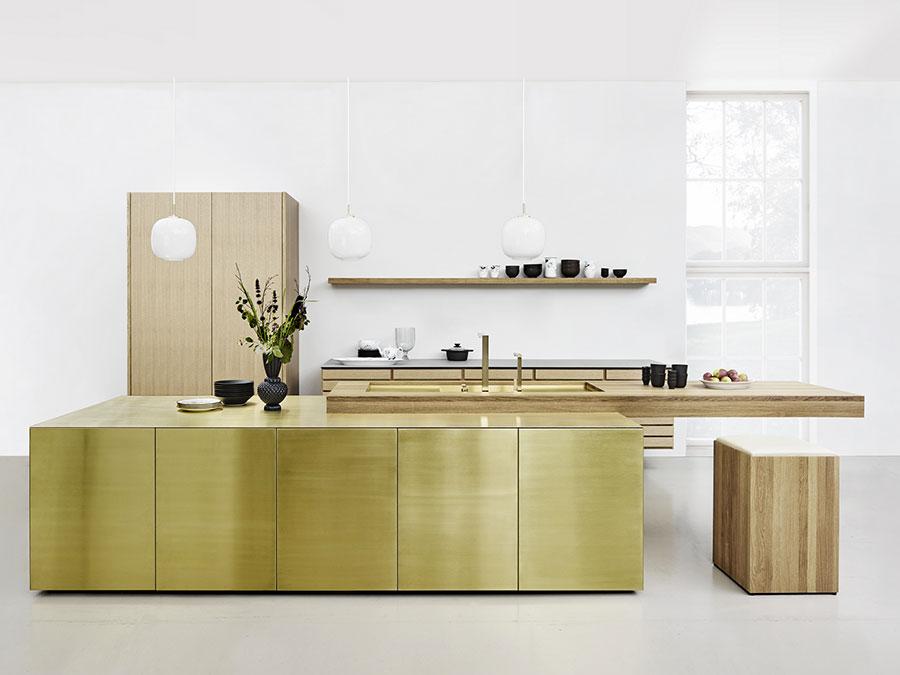 Modello di cucina da sogno con isola n.01