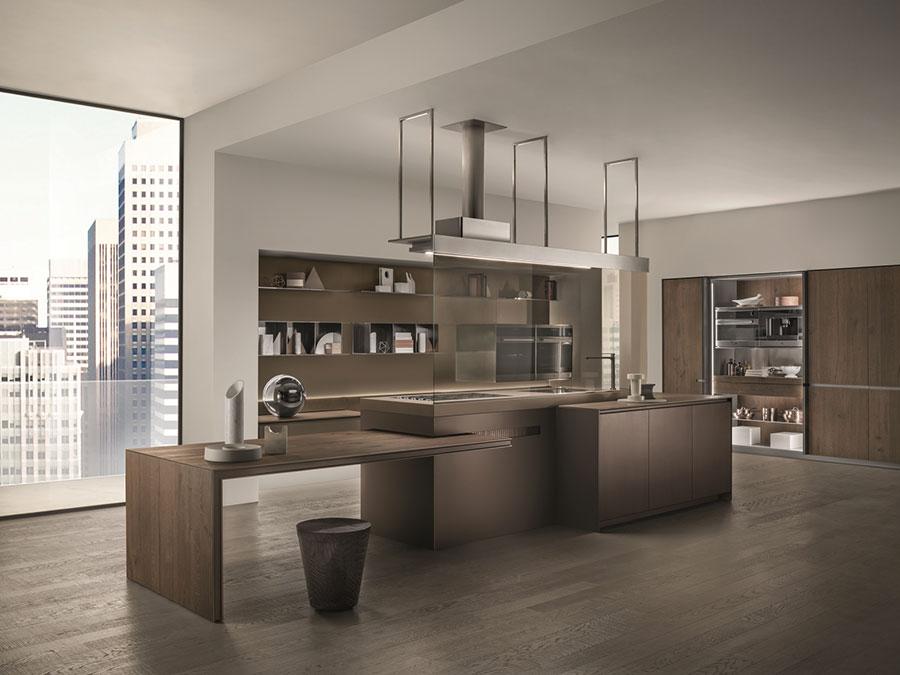 Modello di cucina da sogno con isola n.02