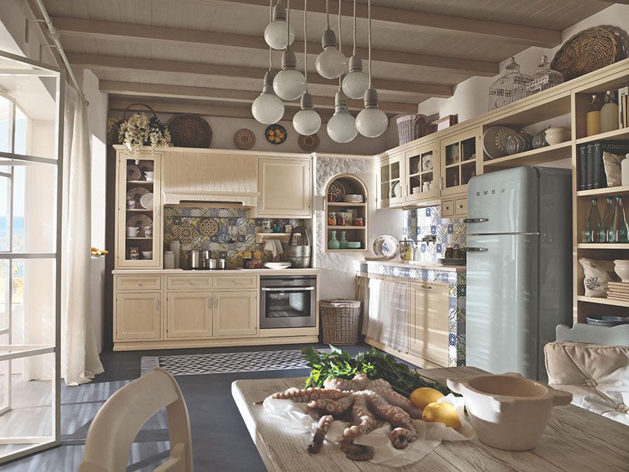 Modello di cucina da sogno rustica n.01