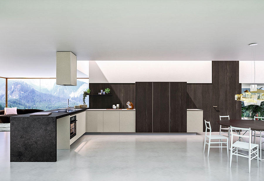 Modello di cucina da sogno moderna n.10