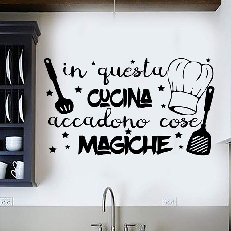 Idee per decorare le pareti della cucina con gli stencil n.01