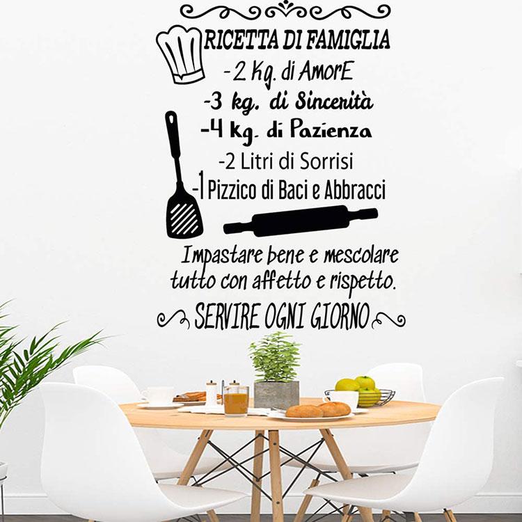 Idee per decorare le pareti della cucina con gli stencil n.03