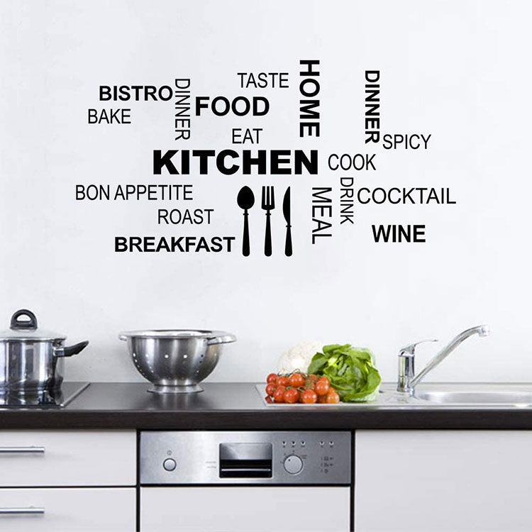 Idee per decorare le pareti della cucina con gli stencil n.04