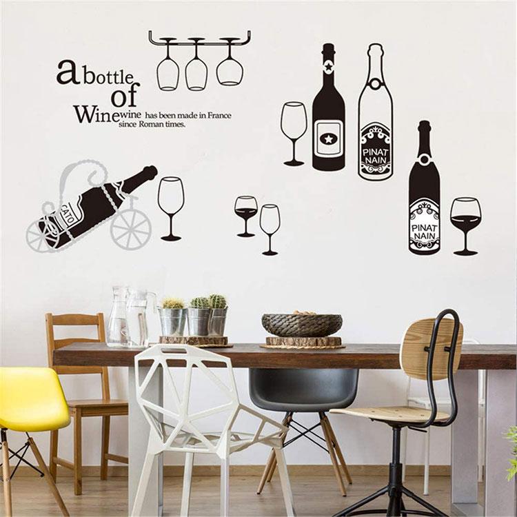 Idee per decorare le pareti della cucina con gli stencil n.05