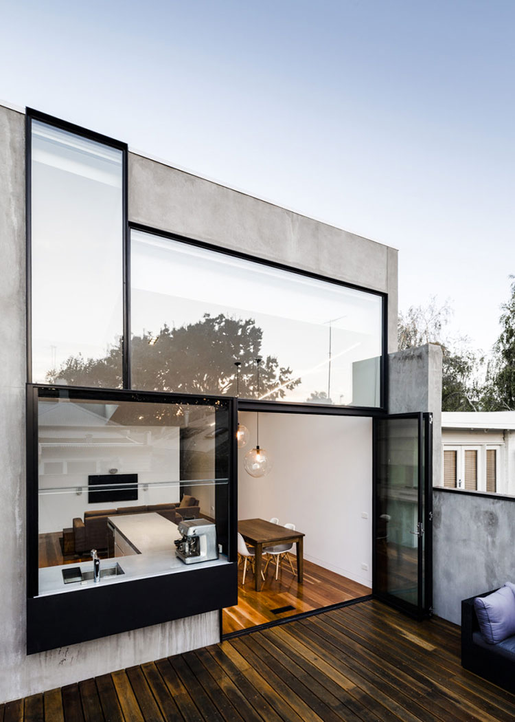 Progetto di finestre moderne per case da sogno n.03