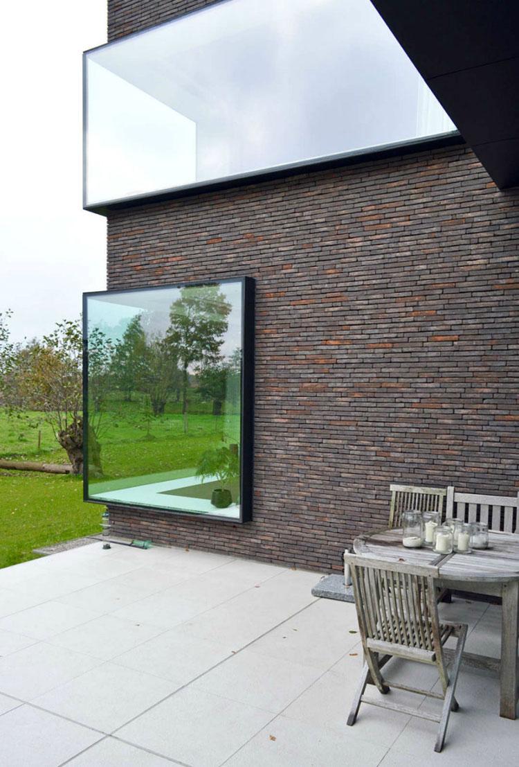 Progetto di finestre moderne per case da sogno n.06