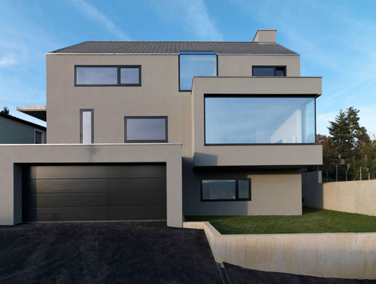 Progetto di finestre moderne per case da sogno n.26