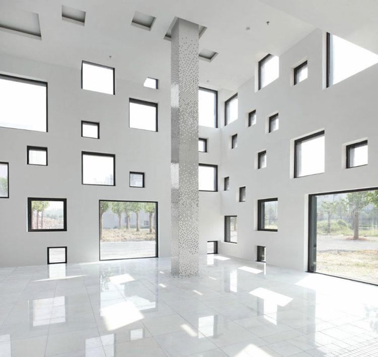 Progetto di finestre moderne per case da sogno n.30