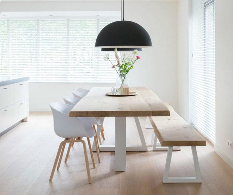 Panche e sedie di design per tavolo da pranzo 30 idee di for Tavolo da pranzo design