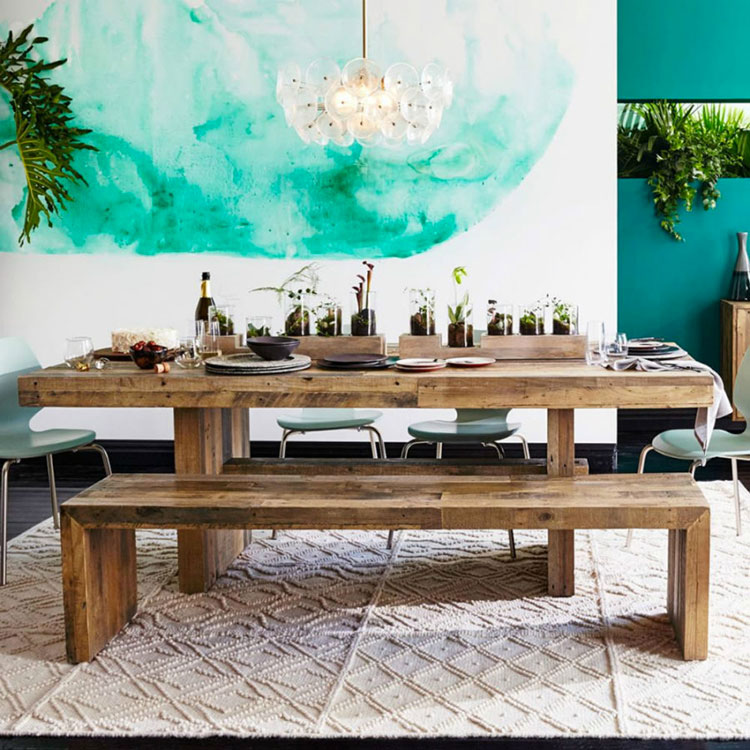 Idee di arredo per la scelta di panche e sedie per la sala da pranzo n.03