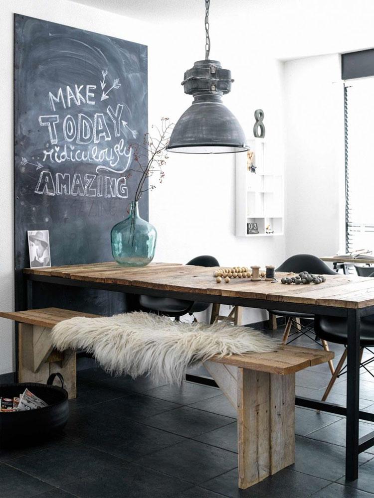 Idee di arredo per la scelta di panche e sedie per la sala da pranzo n.04