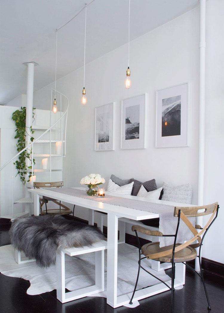 Panche e sedie di design per tavolo da pranzo 30 idee di for Poltroncine sala da pranzo