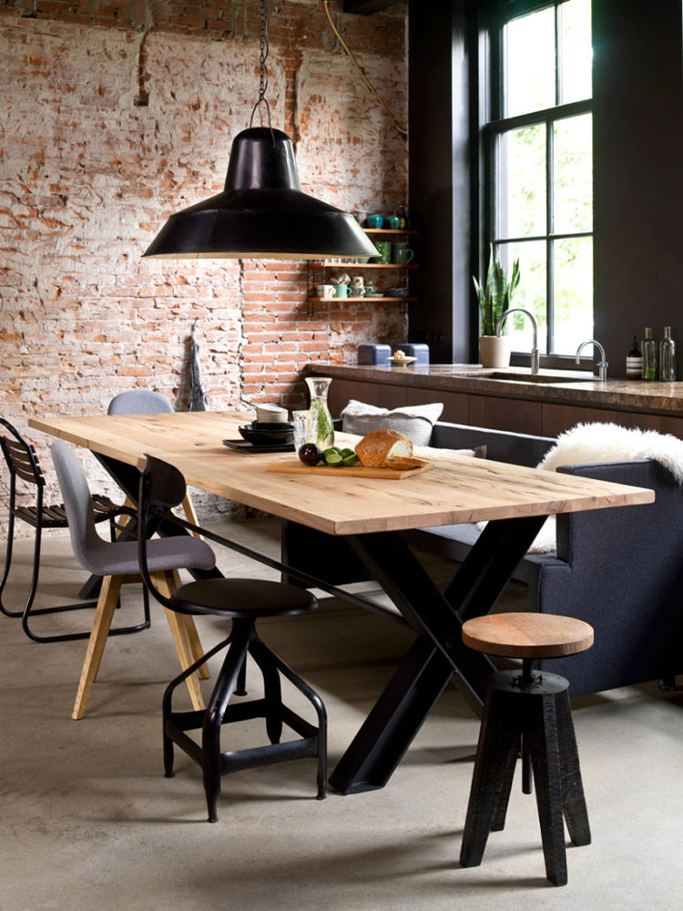 Idee di arredo per la scelta di panche e sedie per la sala da pranzo n.08