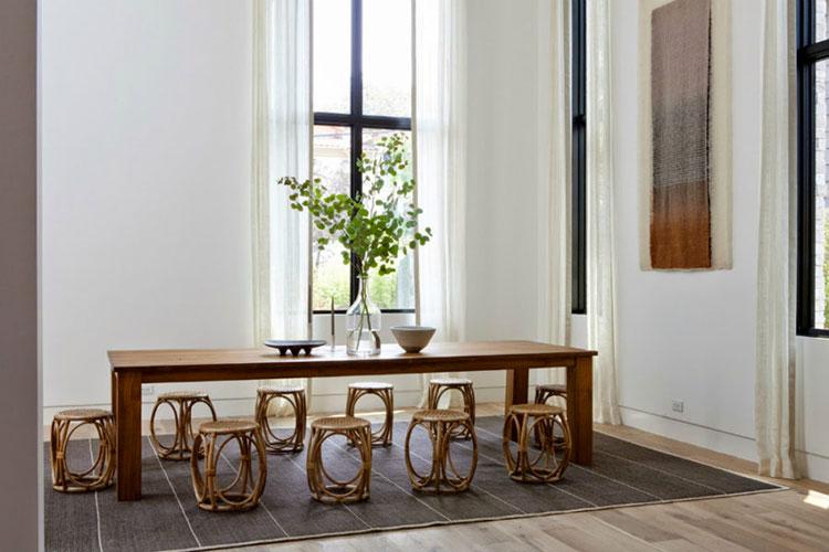 Idee di arredo per la scelta di panche e sedie per la sala da pranzo n.09