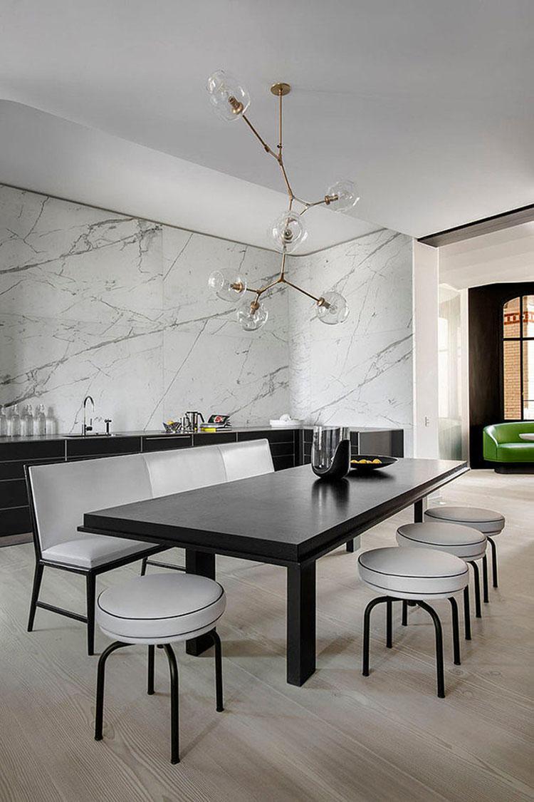 Panche e sedie di design per tavolo da pranzo 30 idee di - Piantana per tavolo da pranzo ...