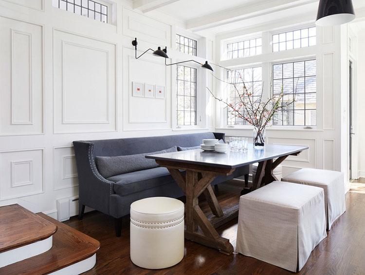Idee di arredo per la scelta di panche e sedie per la sala da pranzo n.12
