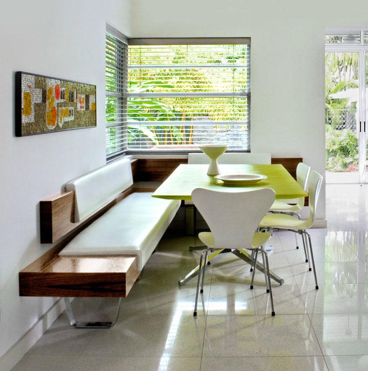 Idee di arredo per la scelta di panche e sedie per la sala da pranzo n.18