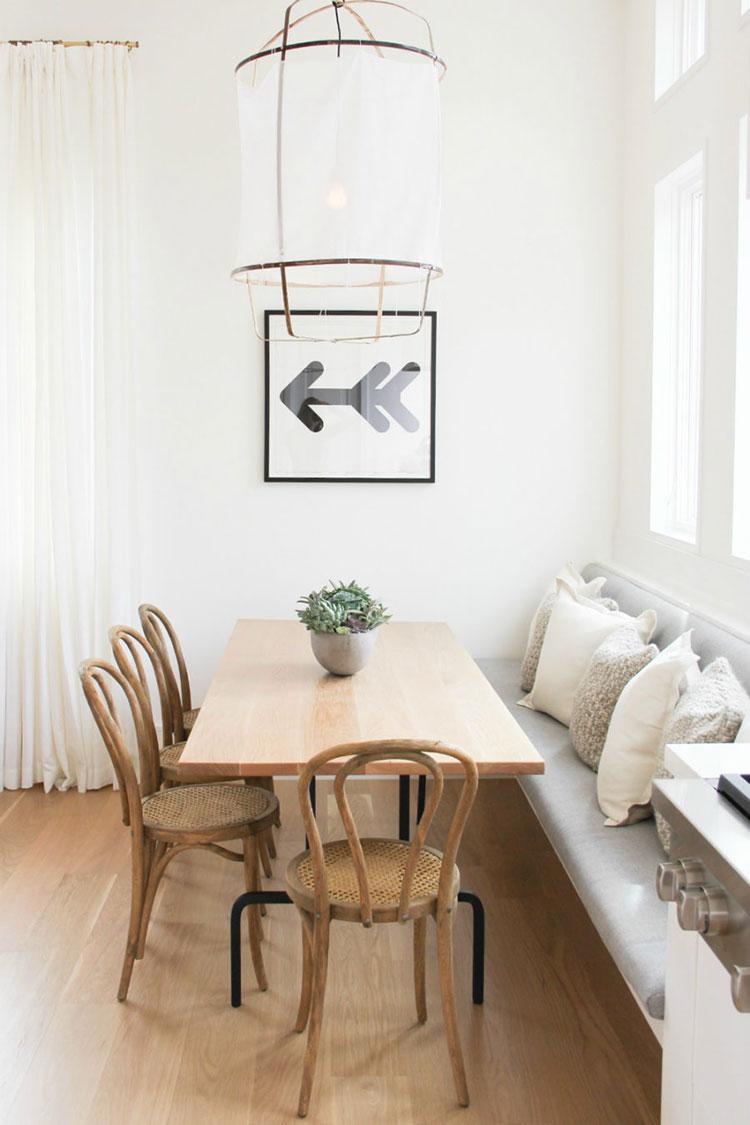 Idee di arredo per la scelta di panche e sedie per la sala da pranzo n.19