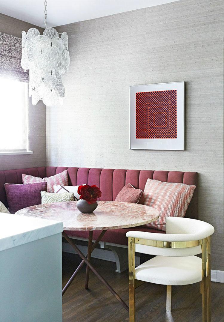 Idee di arredo per la scelta di panche e sedie per la sala da pranzo n.21