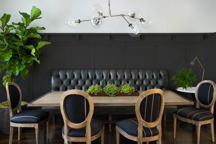 Idee di arredo per la scelta di panche e sedie per la sala da pranzo n.22