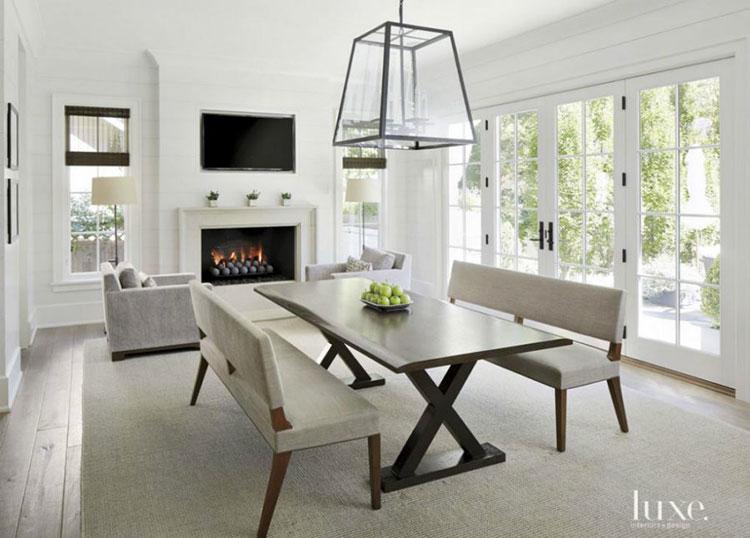 Idee di arredo per la scelta di panche e sedie per la sala da pranzo n.27